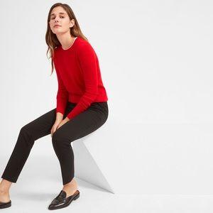 Everlane Red Crew Neck Cashmere Sweater • Women's XS